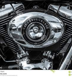 twin cam 103 engine closeup of motorcycle harley davidson softail  [ 1300 x 957 Pixel ]