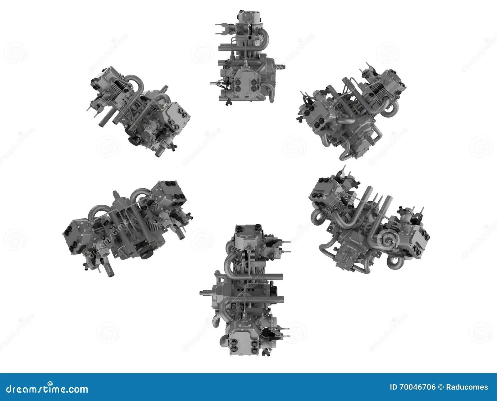 Twin Engine Illustrations Stock Illustration Illustration