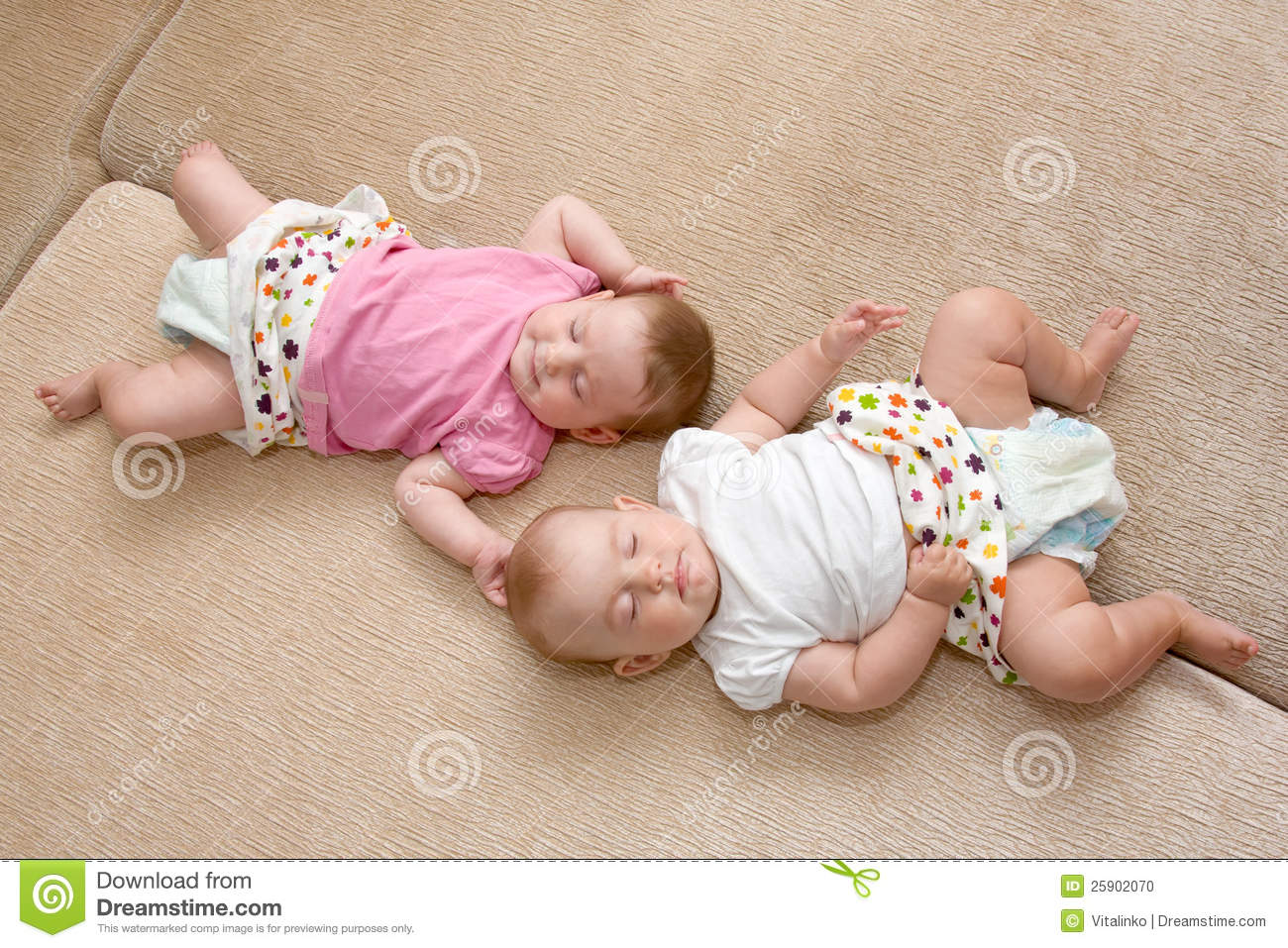 Cute Newborn Baby Girl Wallpapers Twins Baby Girls Sleeping Stock Photo Image Of Concept
