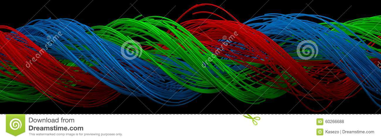 twisting wires stock illustration