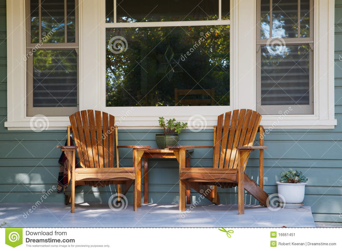 Front Porch Chairs Two Adirondack Chairs Porch Stock Image Image 16661451