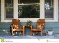 Two Adirondack Chairs Porch Stock Image - Image: 16661451