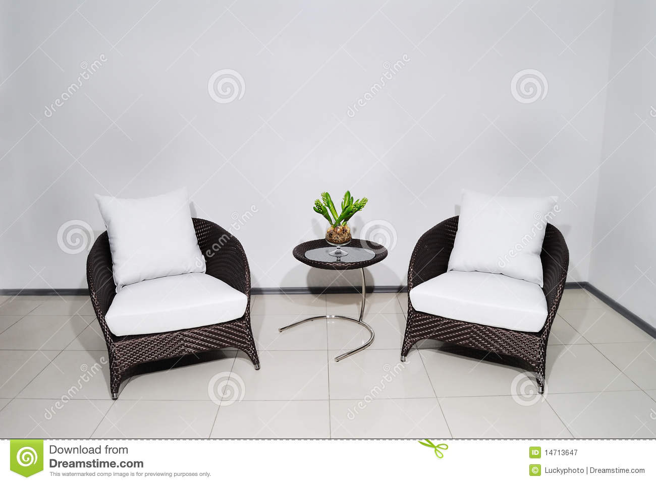 armchair pillow eames walnut lounge chair two with wyite stock image of
