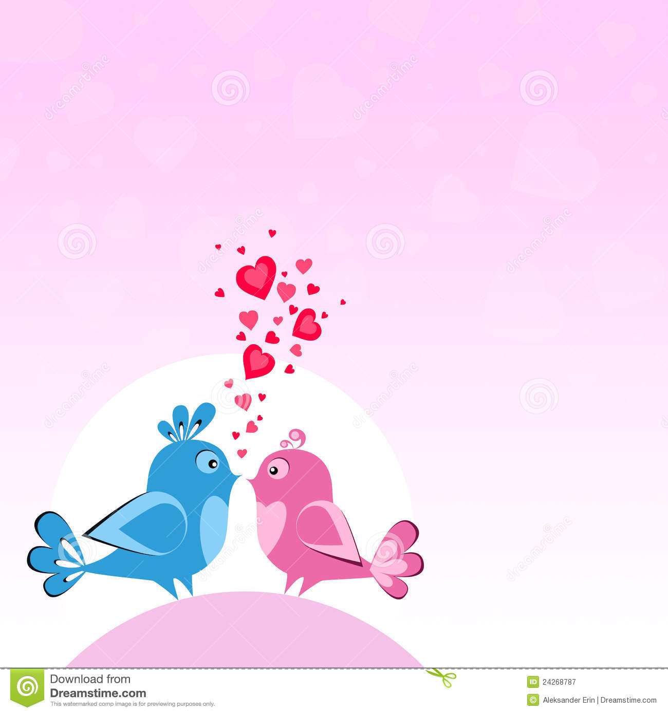 Two Birds In Love Stock Illustration Image Of Invitation