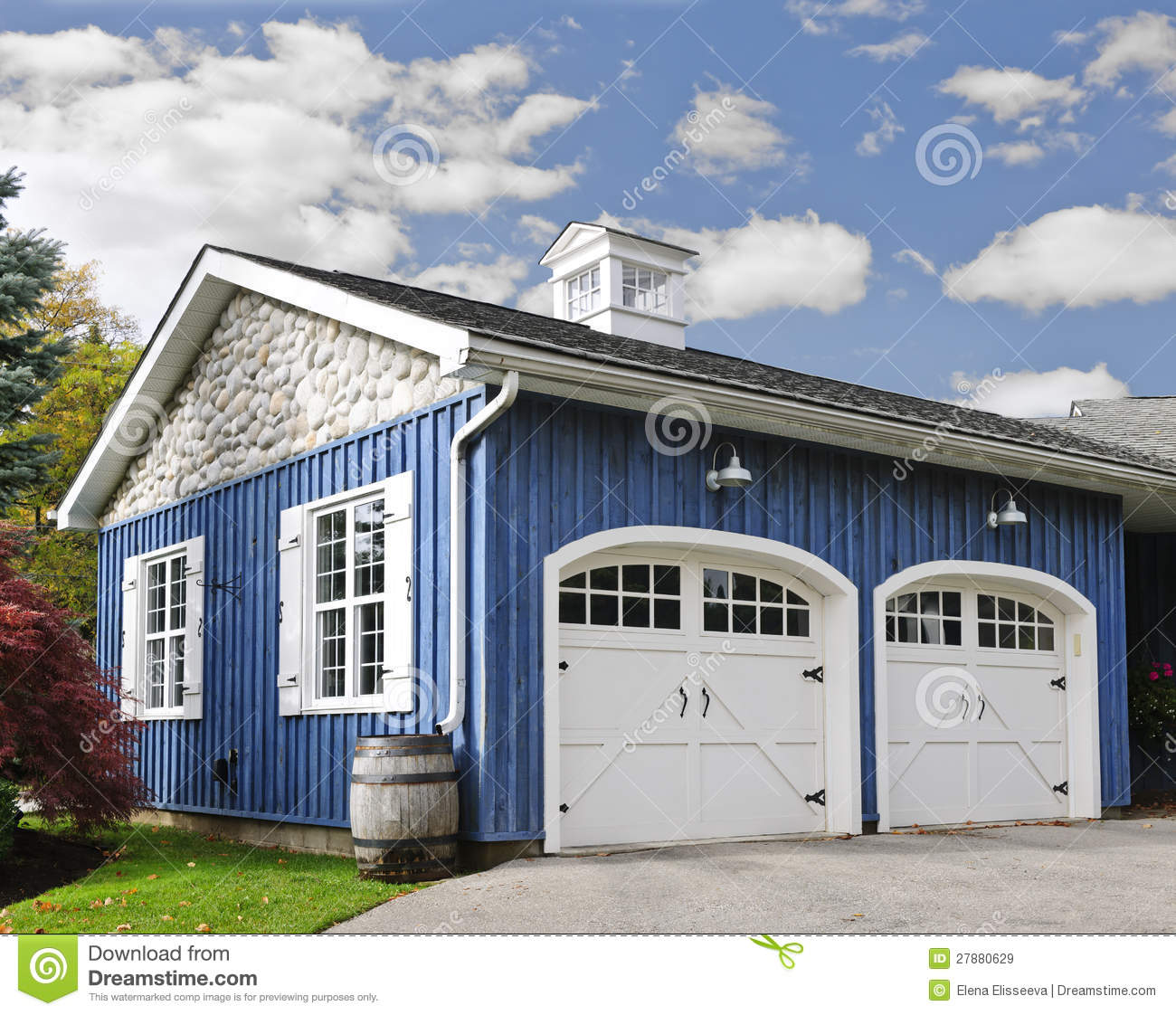 Two Car Garage Stock Image Image Of House Garages Clean