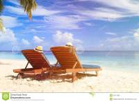 Two Chairs At The Tropical Beach Stock Photo - Image: 57517825