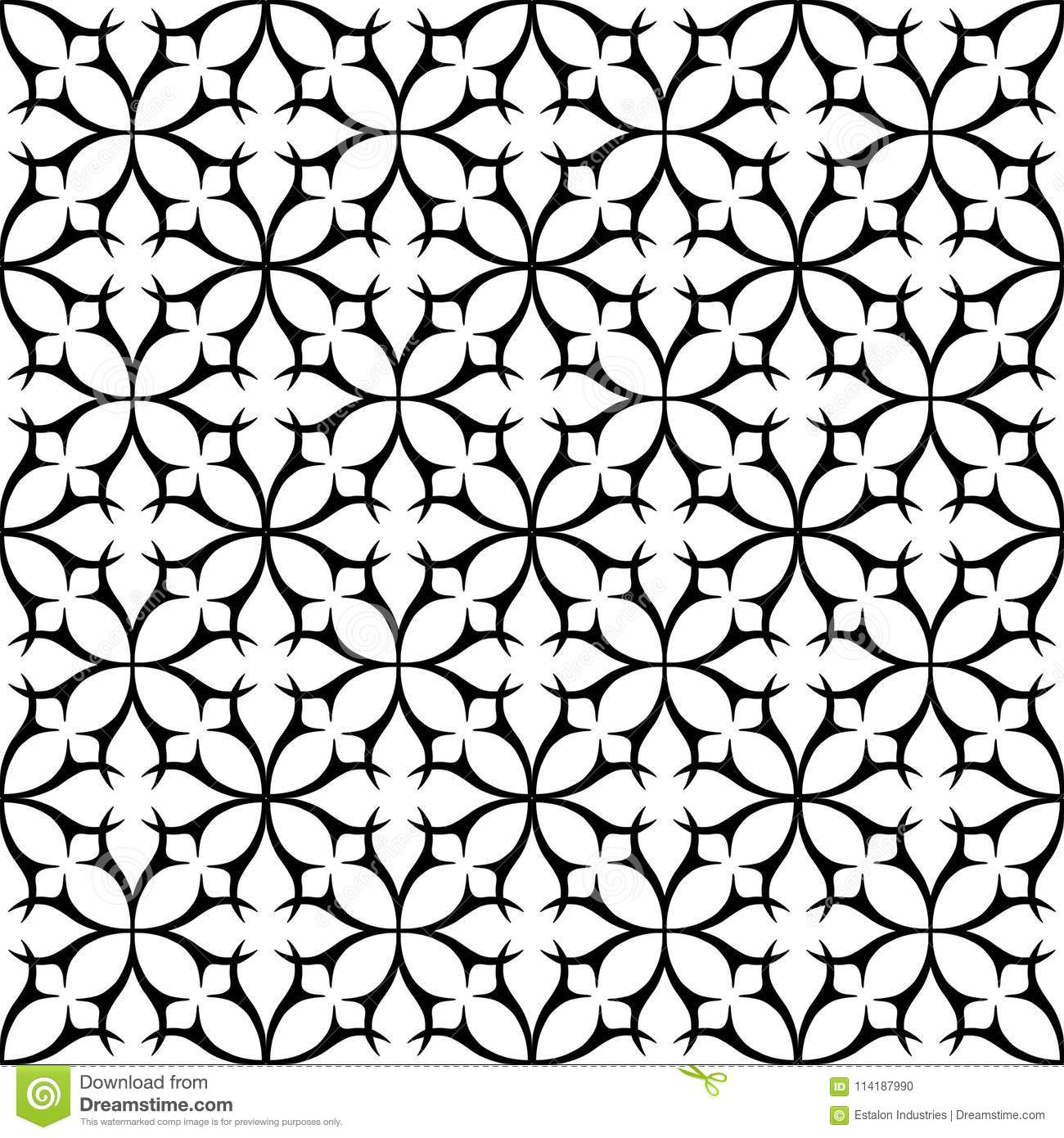 https www dreamstime com two colour geometric tile thorn circle seamless repeat pattern background could be used background pattern black white image114187990