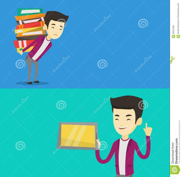 Educational And Technology Cartoon Graphics Vector