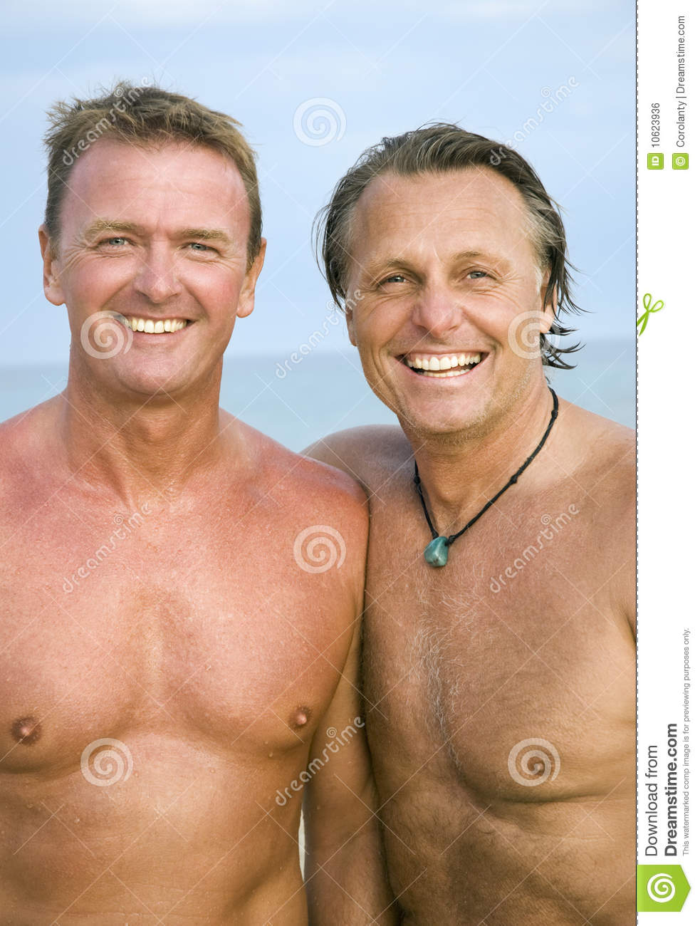Two Gay Men On Beach
