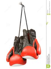 two gloves nail royalty free