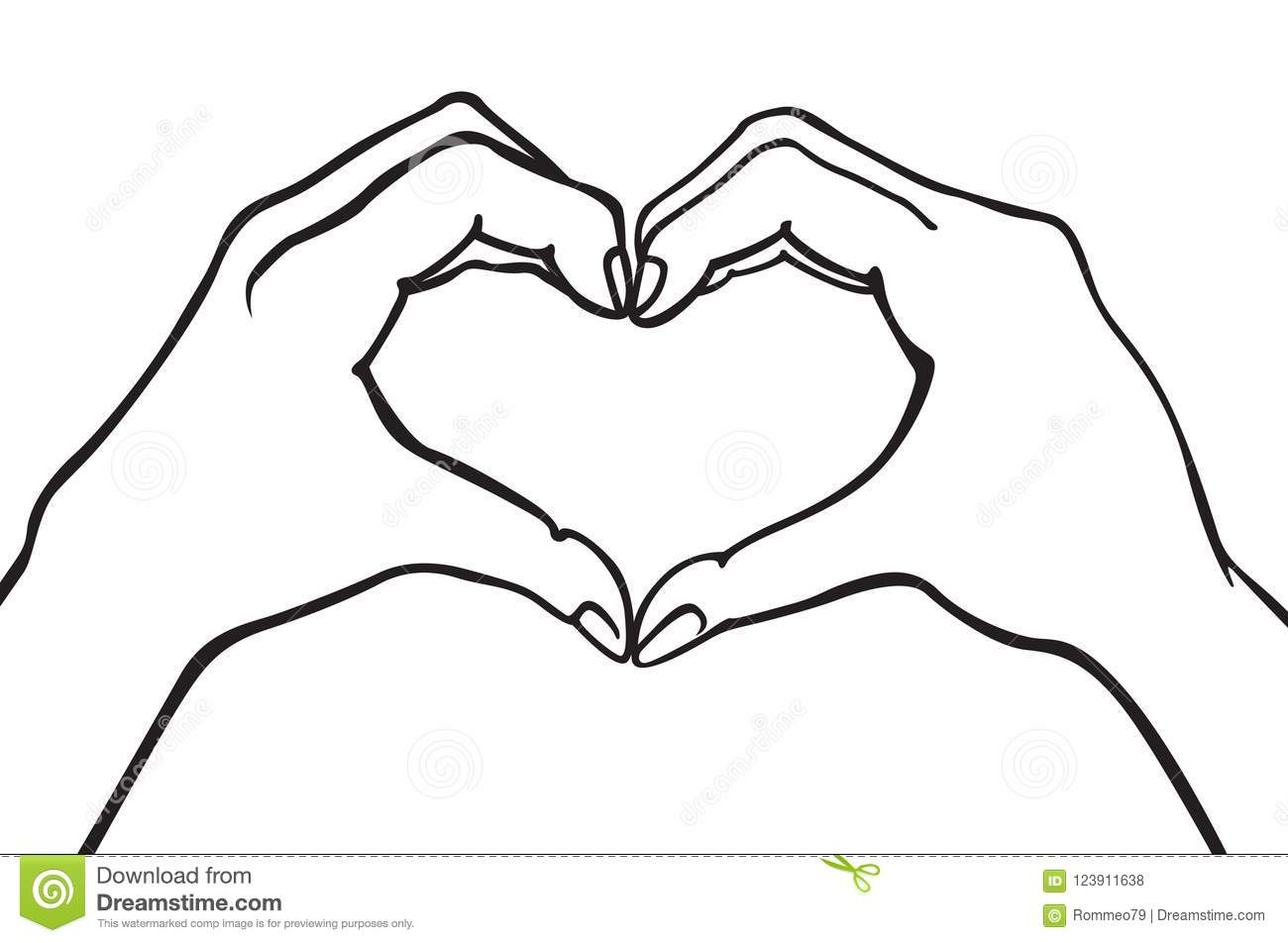 Two Hands Making Heart Sign Love Romantic Relationship