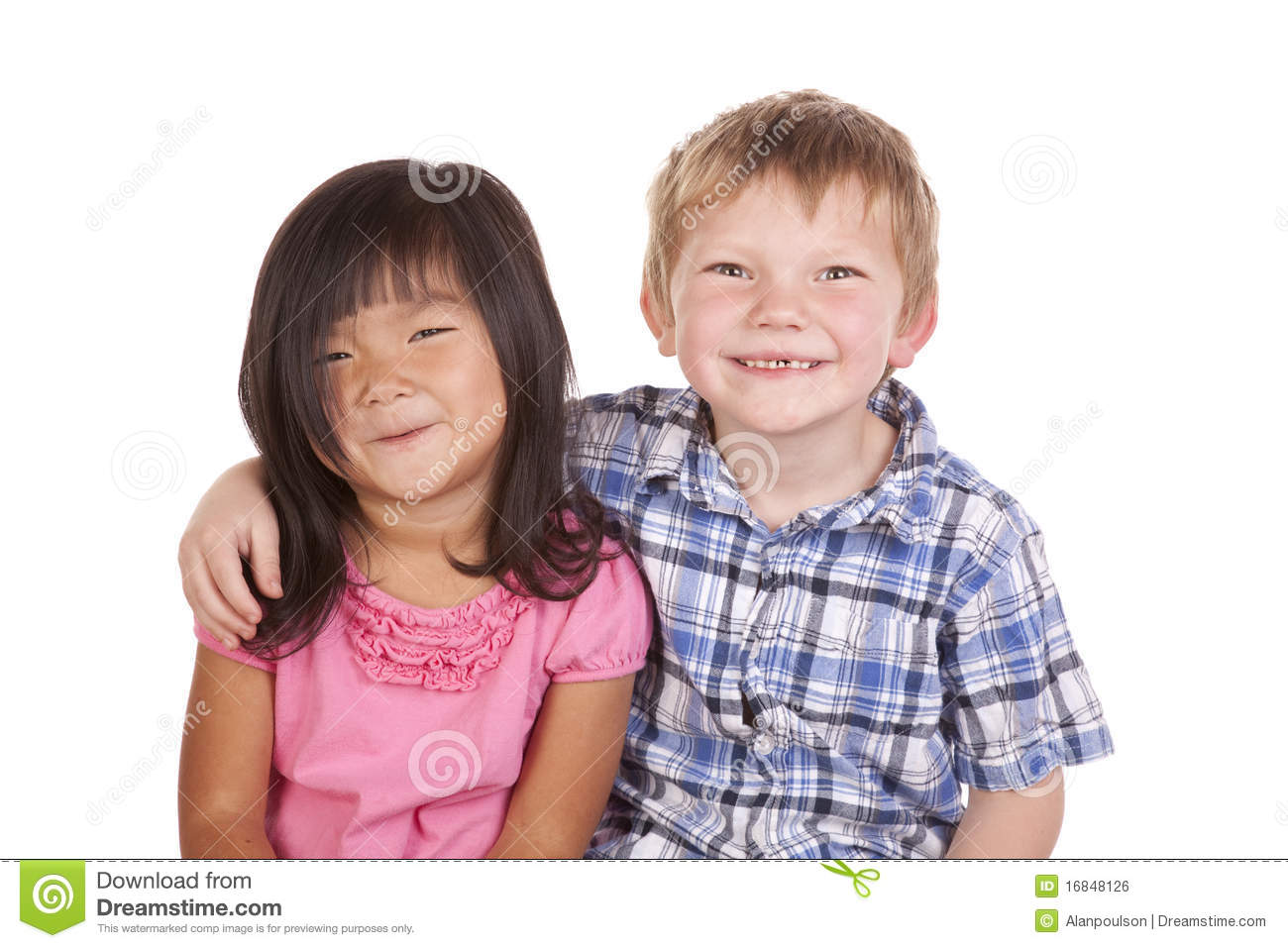 Two Kids Friends Smile Royalty Free Stock Image  Image