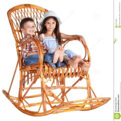 Little Girl Rocking Chair Lightweight Folding Lawn Chairs Two Kids Sitting In The Stock Image - Image: 28775369