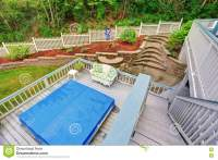 Two Level Backyard Deck With Jacuzzi On The First Floor ...