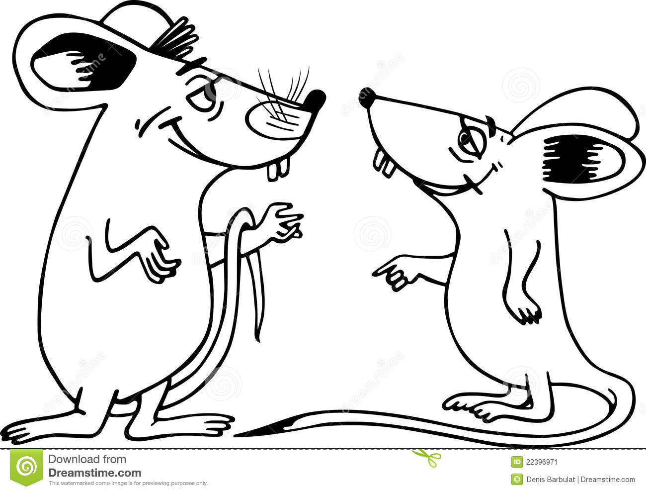 Two Mice Stock Vector Image Of Conversation Rodent