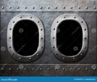 Two Military Ship Or Submarine Windows As Steam Punk ...