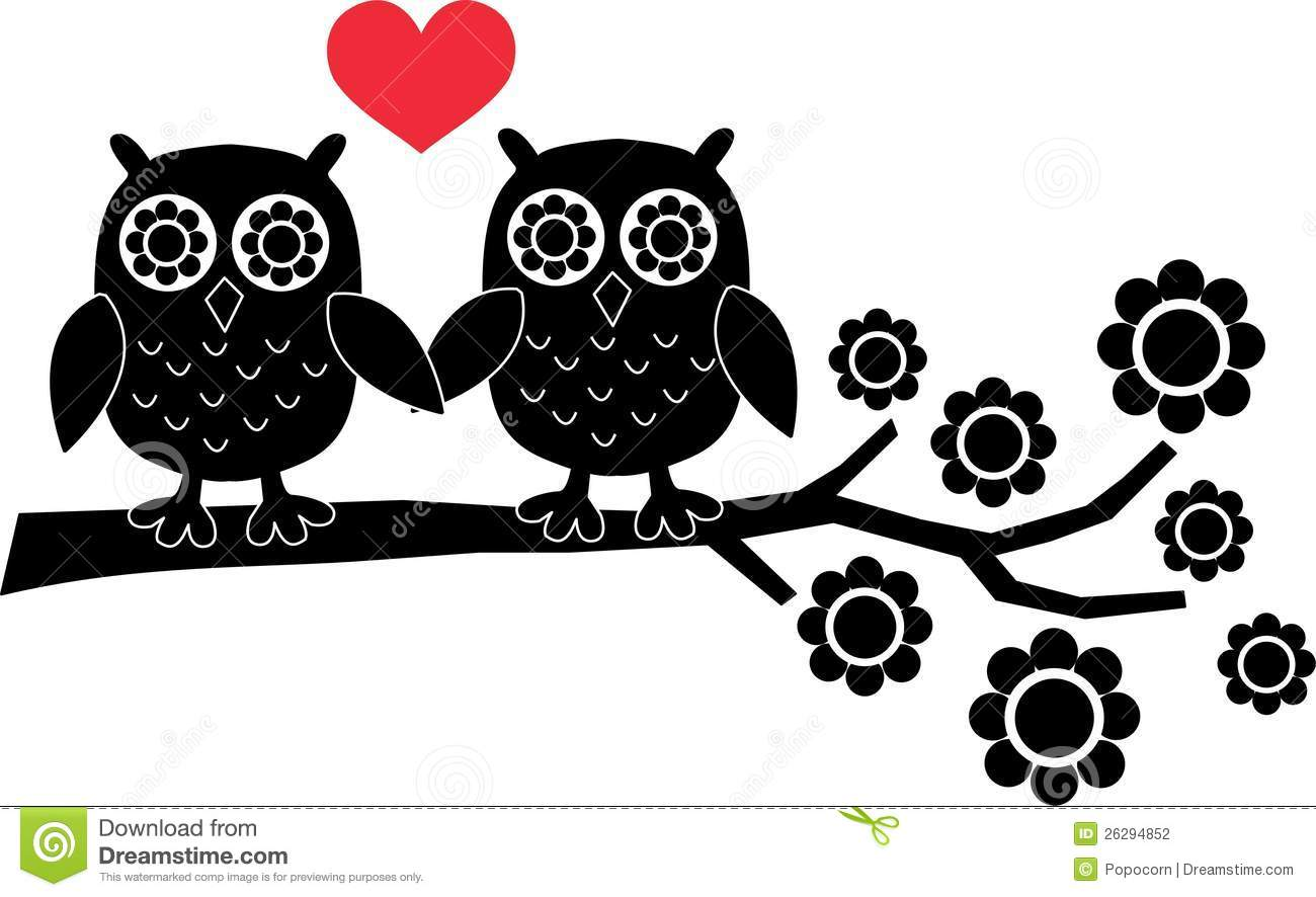 Two Owls In Love Stock Photography Image 26294852