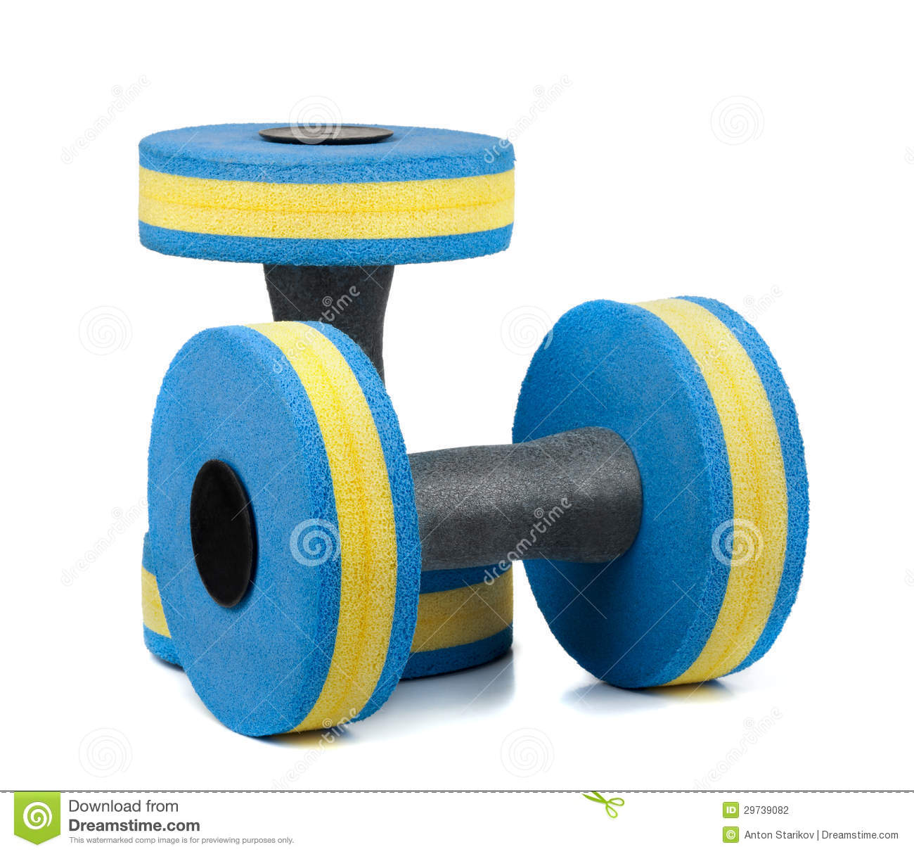 Water Dumbbells Stock Photography Image 29739082