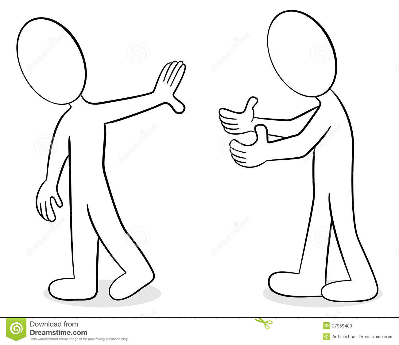 Two People Are Of Different Opinion Stock Vector