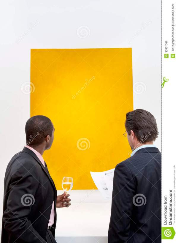Two People Yellow Painting Wall In Art