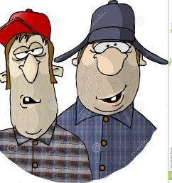 two rednecks this illustration that i created depicts two men with redneck tendencies royalty free [ 1346 x 1300 Pixel ]