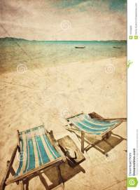 Two Sun Beach Chairs Royalty Free Stock Photo
