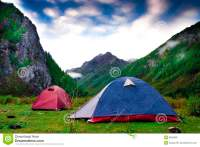 Two Tents Royalty Free Stock Photos - Image: 6666968