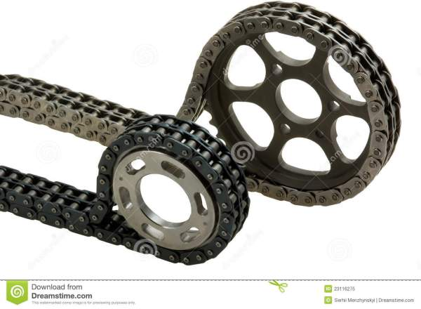 Two Types Of Chains With Gears Stock - 23116275