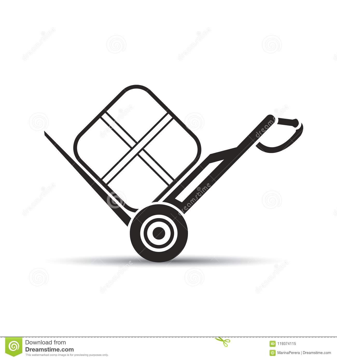 X Ray Warehouse Trolley Royalty Free Stock Photography