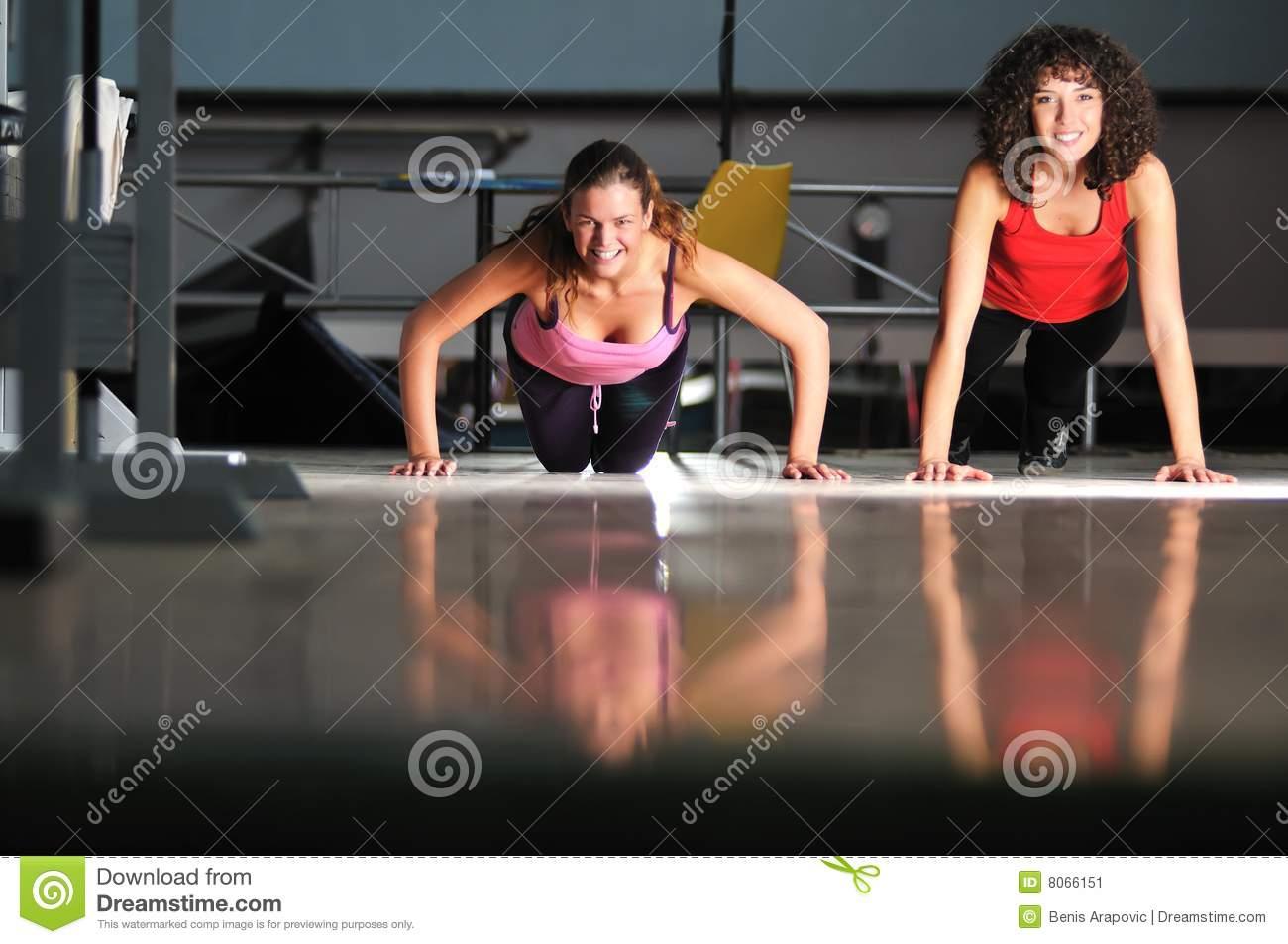 two women work out fitness club 8066151