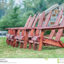 Adirondack Chair Design History Cover Hire Dunfermline Two Wooden Chairs Stock Photo Image 45870127