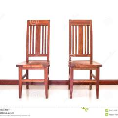 Wooden Chairs Images Brushed Stainless Steel Dining Two Stock Photo Image Of Brown Seat Shine 34971498