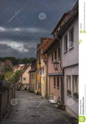 town buildings german typical street preview