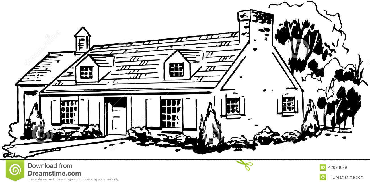 Typical House stock vector. Illustration of houses