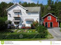 Typical Swedish House Royalty Free Stock