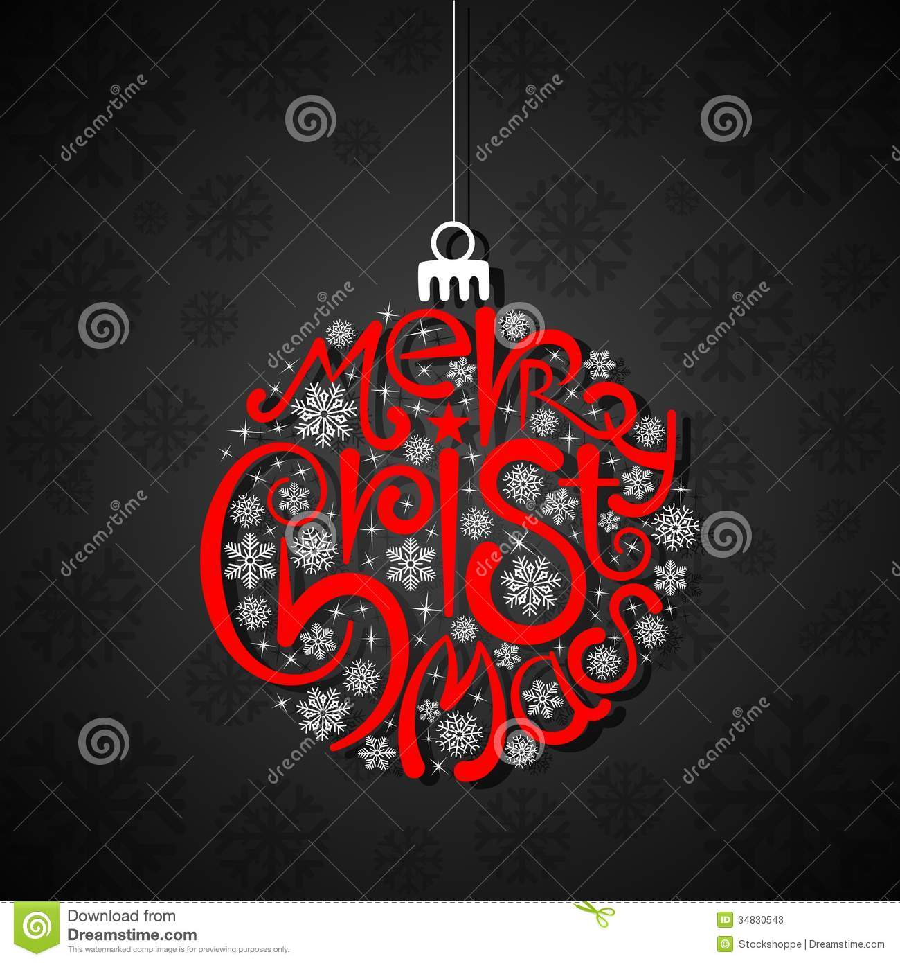 Typography Christmas Card Stock Vector Image Of