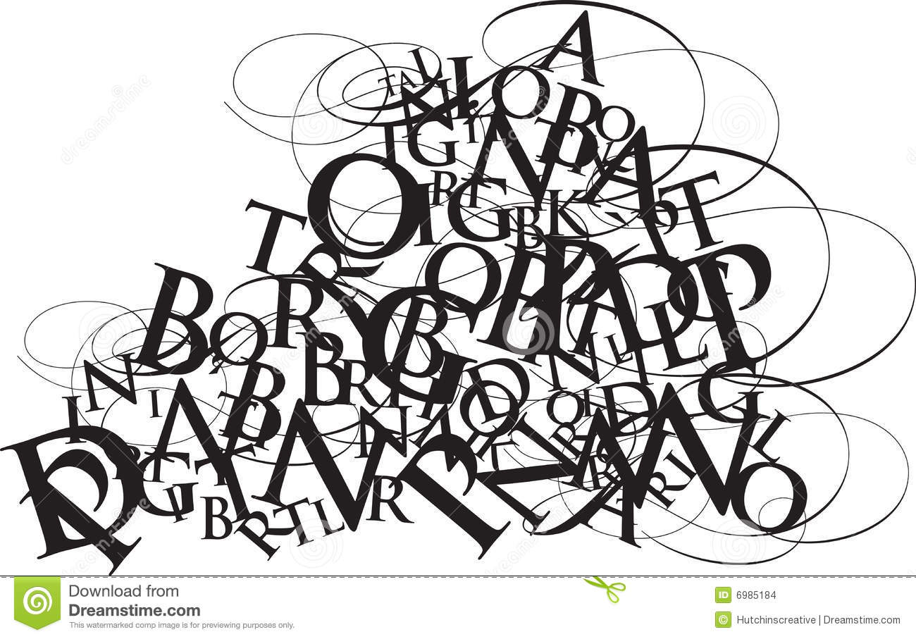 Typography Jumble Stock Vector Image Of Letter Jumble