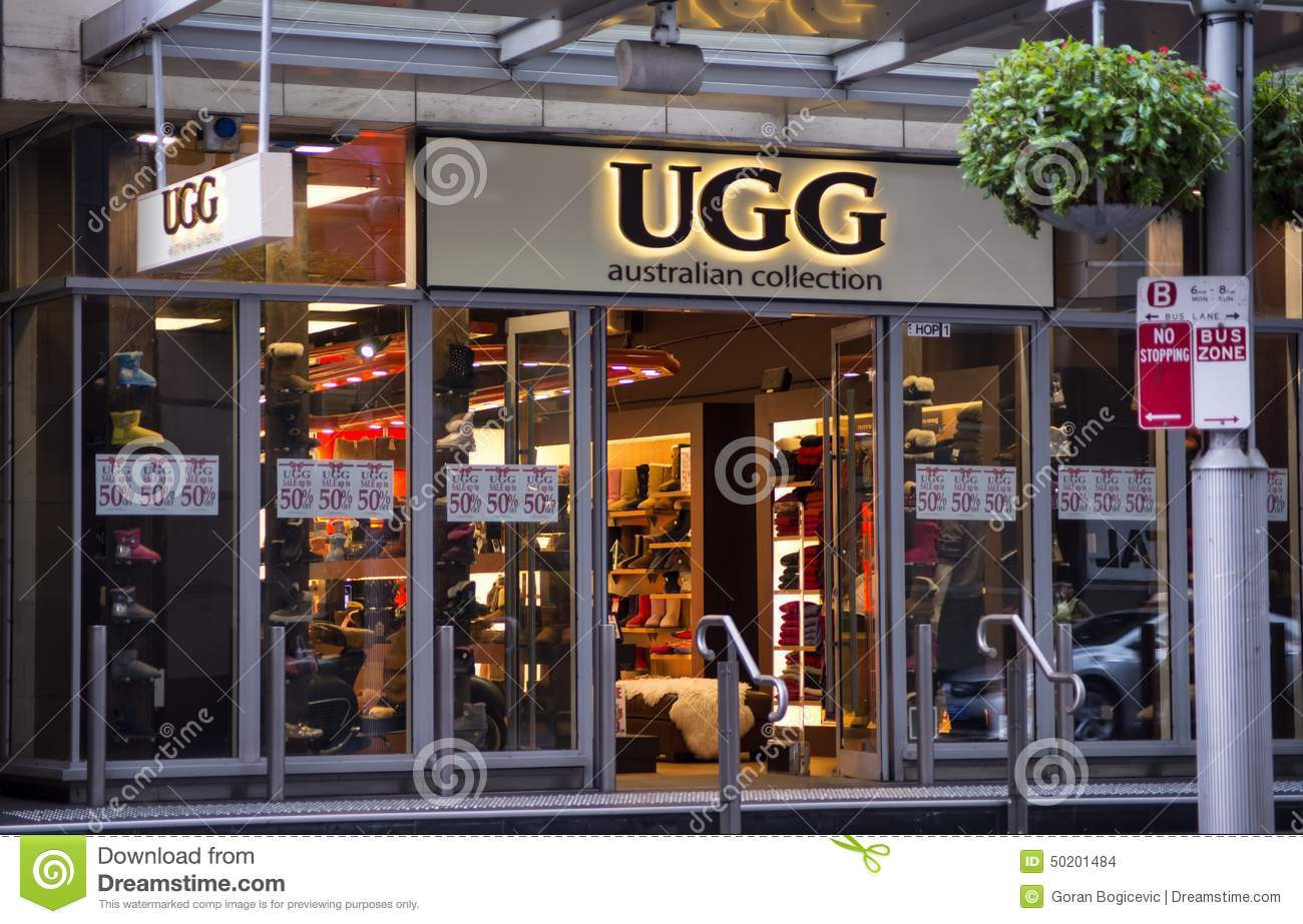 UGG store editorial stock image. Image of clothing. company - 50201484