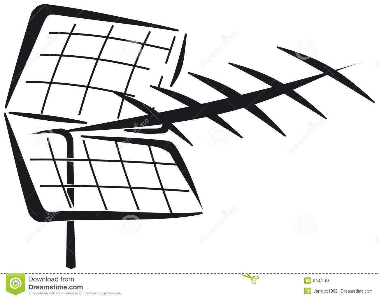 Uhf Yagi Antenna Stock Vector Illustration Of Television