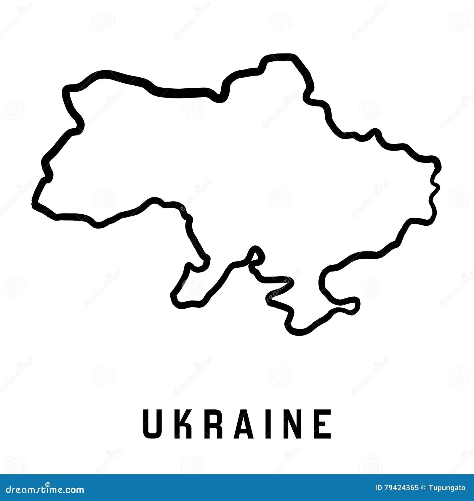 Ukraine Map Outline Stock Vector Illustration Of Blank