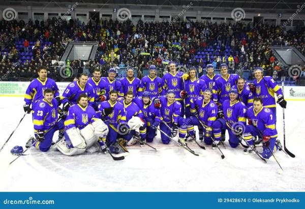 Ukraine National Ice-hockey Team Editorial Stock