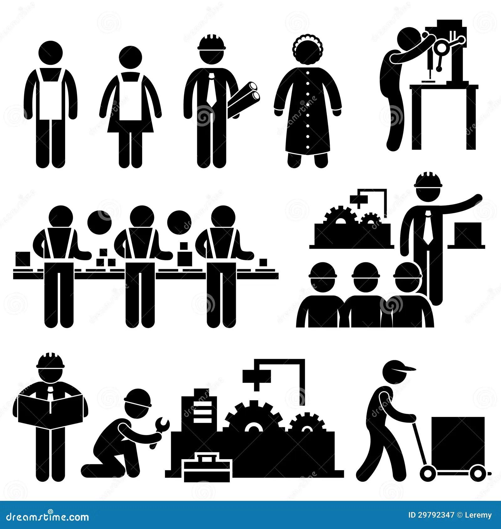 Pictograma De Trabalho Do Gerente Do Operario Ilustracao