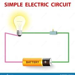 Wiring Diagram For Household Electricity 2003 Ford F150 Power Window Un Circuito Elettrico Semplice Illustrazione Vettoriale - Immagine: 34345333