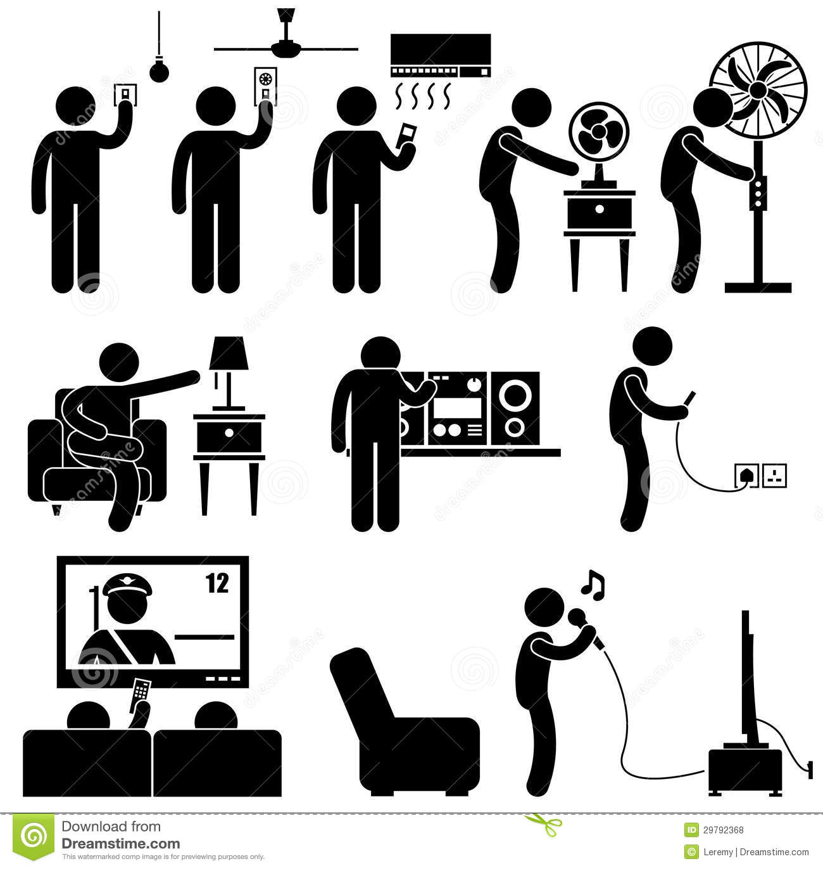 Equipez Utilisant Le Pictogramme D Equipement D Appareils