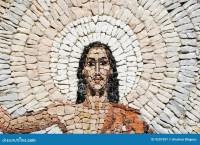 Un mosaico di pietra della risurrezione di Ges Cristo