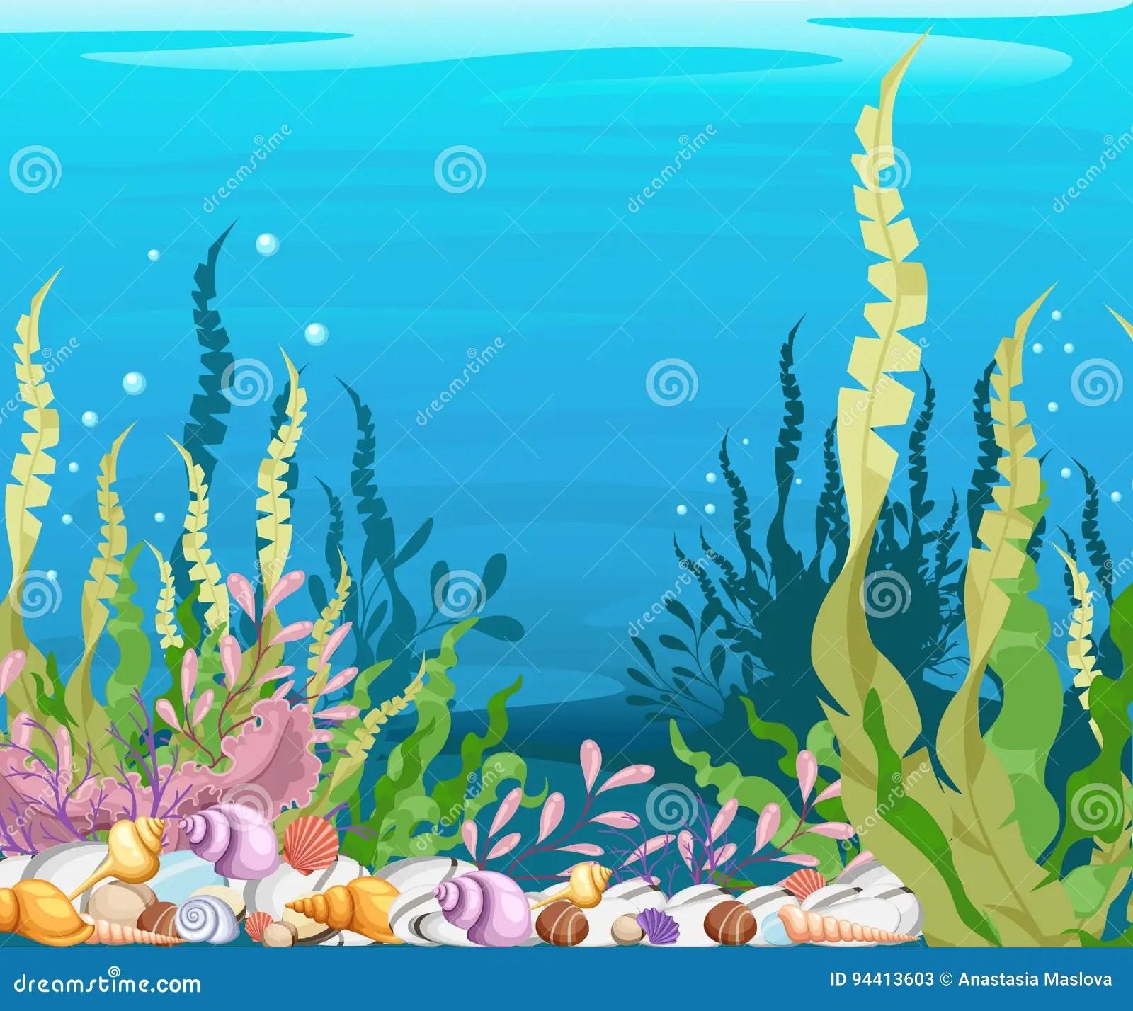Under The Sea Background Marine Life Landscape