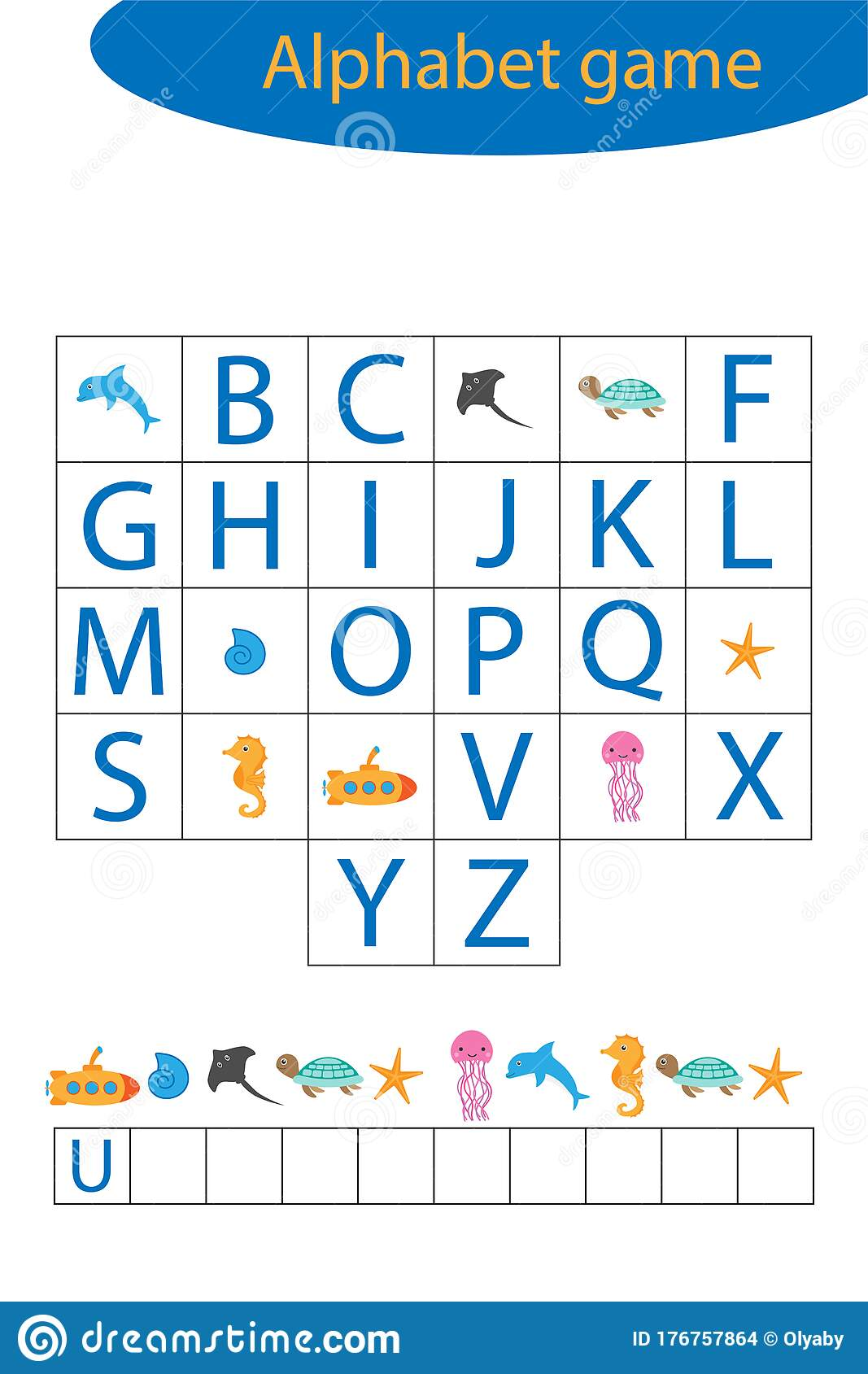 Underwater Alphabet Game For Children Make A Word