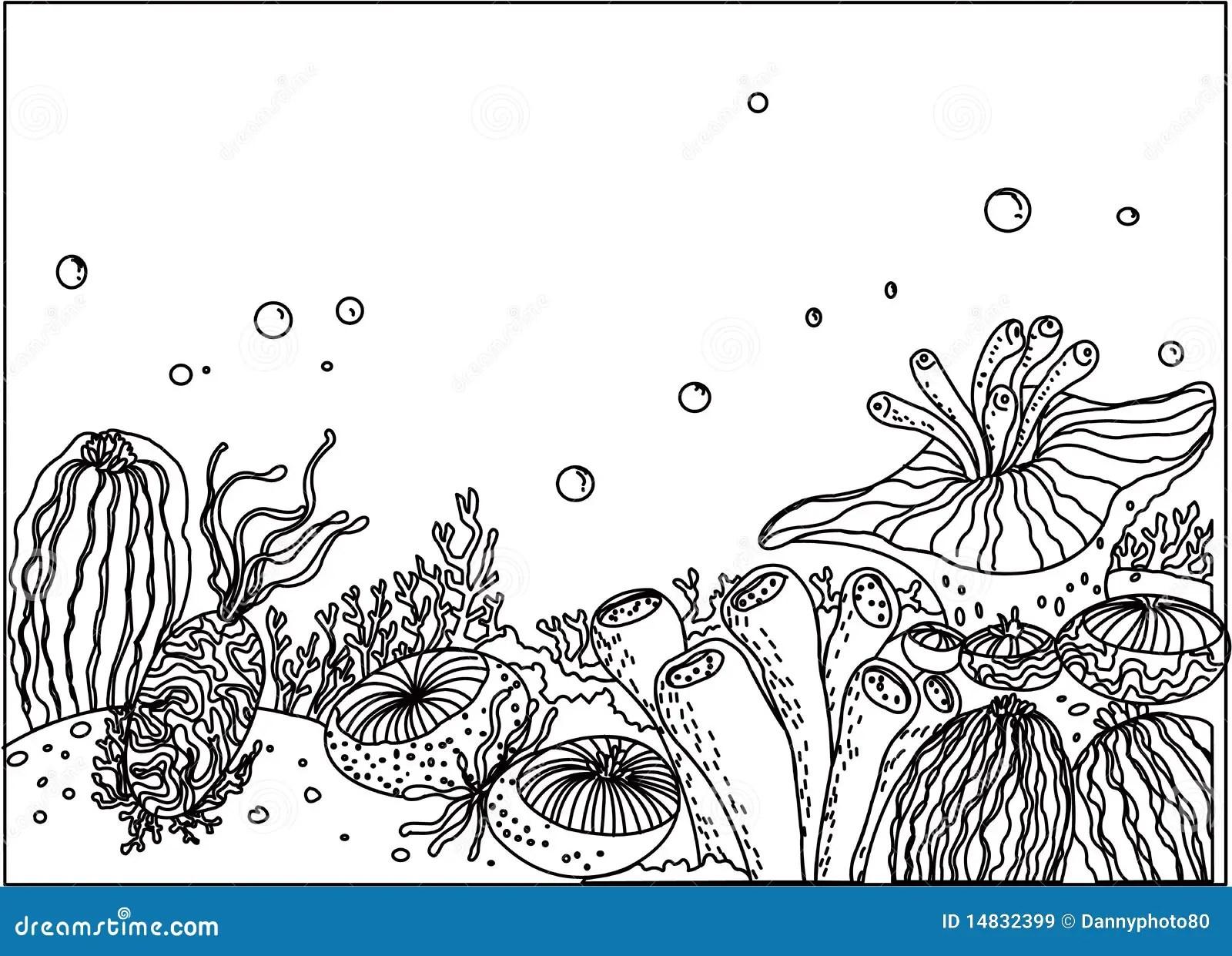 An Underwater Scene Stock Vector Image Of Space