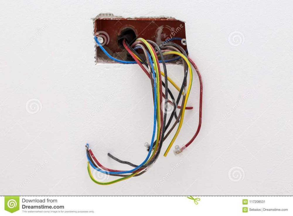 medium resolution of unfinished electrical mains outlet socket with electrical wires