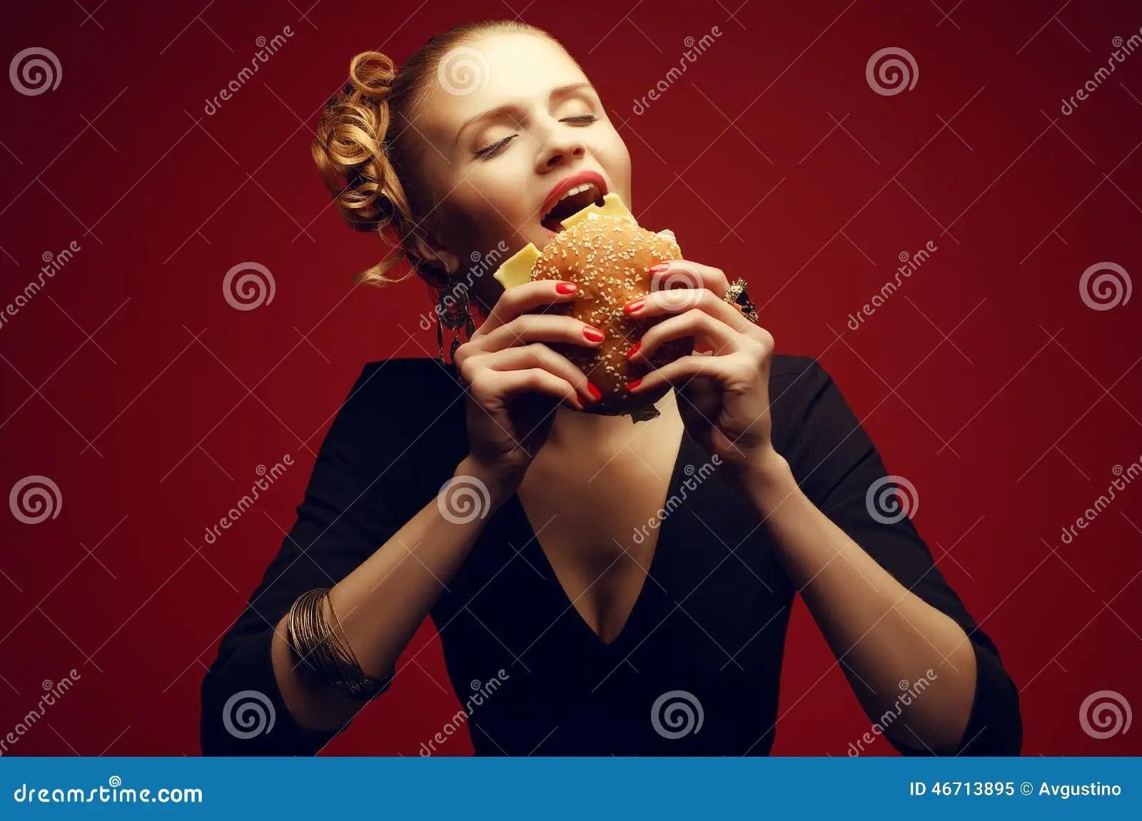Guy Happy Burger Eating Fat